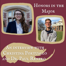 Pictures of Christina Portuallo and Dr. Paul Renfro